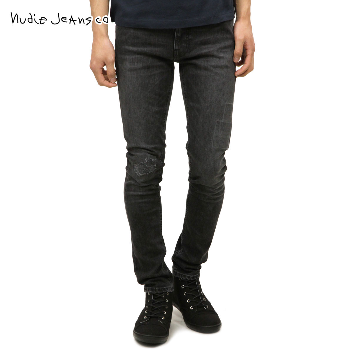96e443f459e Nudie jeans Nudie Jeans regular store men jeans Lean Dean 654 Grey Patch  112144 D00S20 ...