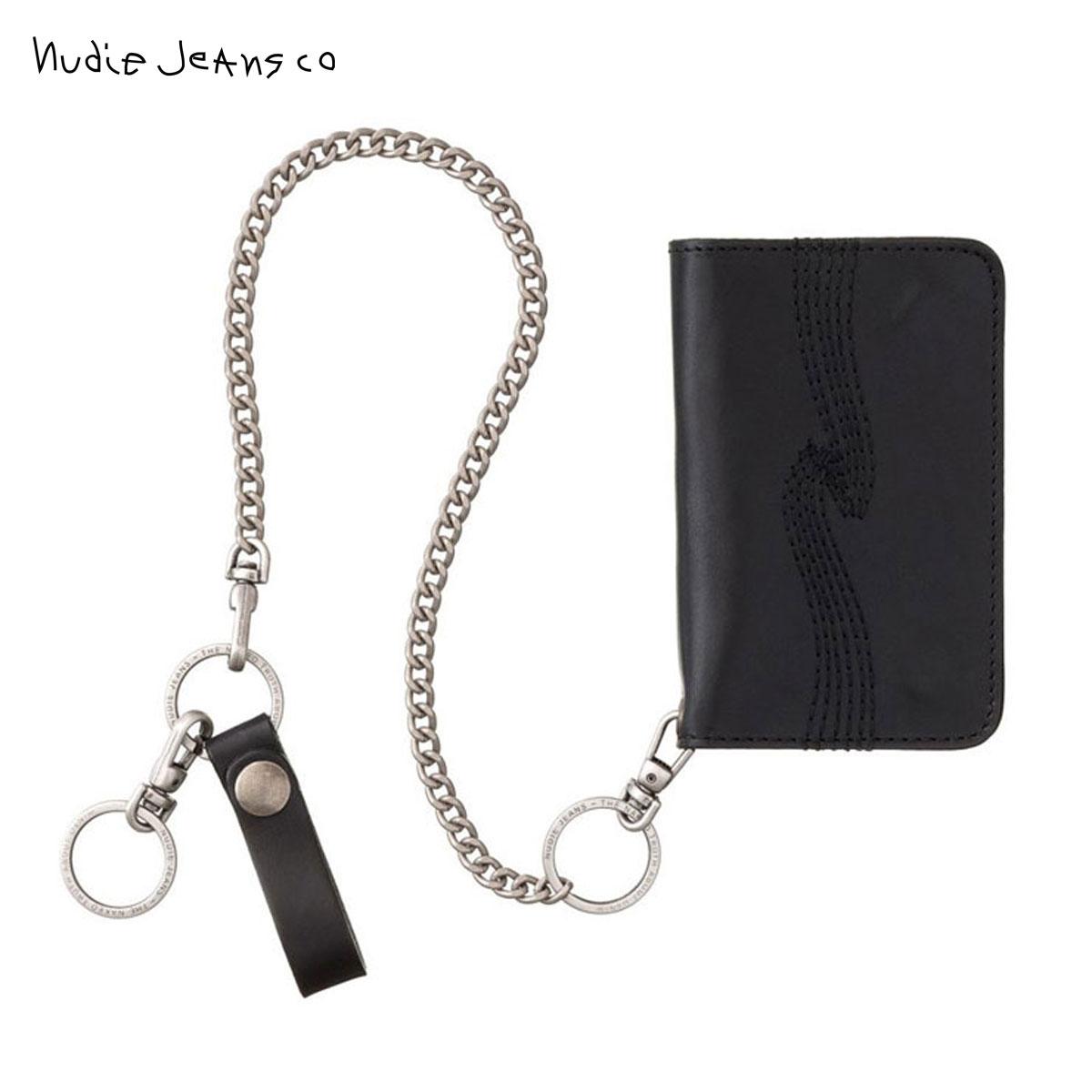 ヌーディージーンズ Nudie Jeans 正規販売店 メンズ 財布 ALFREDSSON CHAIN WALLET BLACK B01 180647 D00S20 父の日