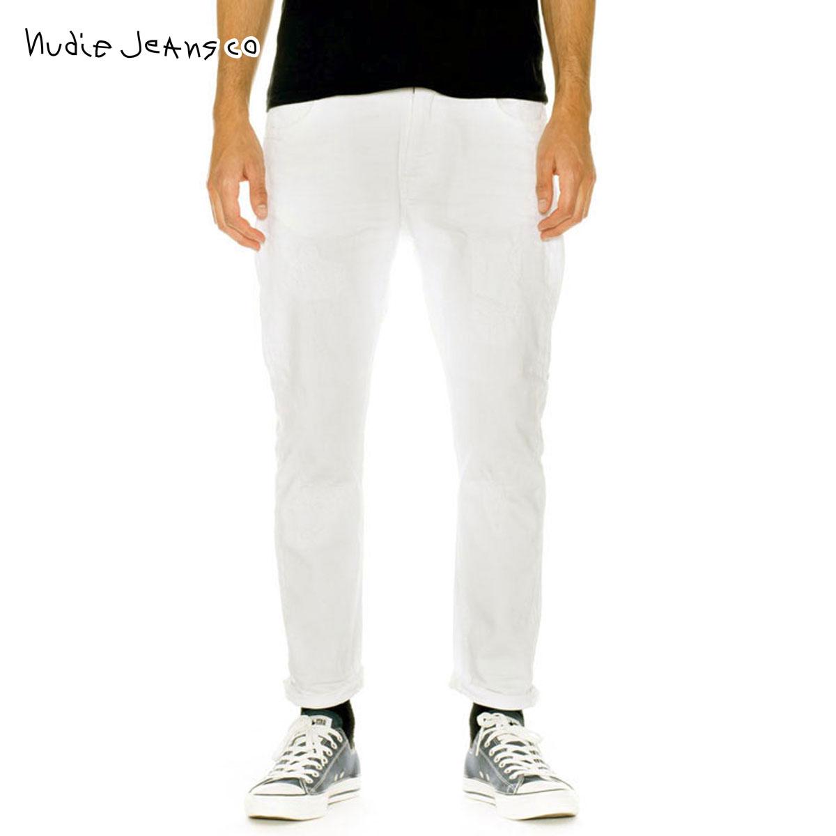 ヌーディージーンズ Nudie Jeans 正規販売店 メンズ ジーンズ BRUTE KNUT PITCH WHITE 745 1124180