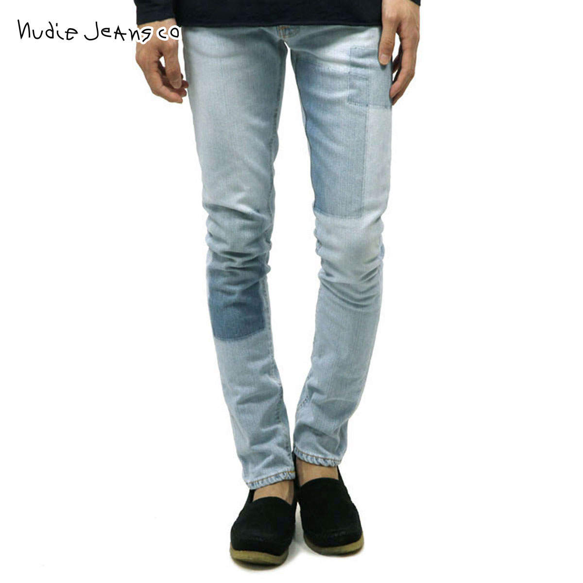 cc76eebca52 Nudie jeans Nudie Jeans regular store men jeans LEAN DEAN INDIGO STRIP 766  1124730 ...