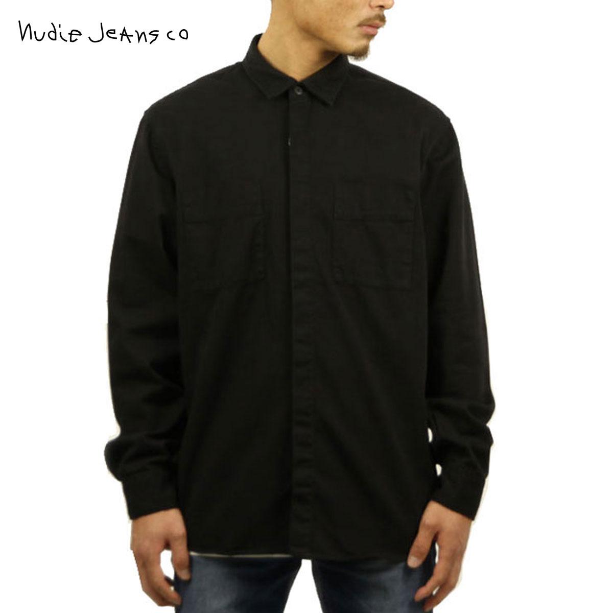 ヌーディージーンズ Nudie Jeans 正規販売店 メンズ 長袖シャツ CALLE SHIRT BLACK B01 140476