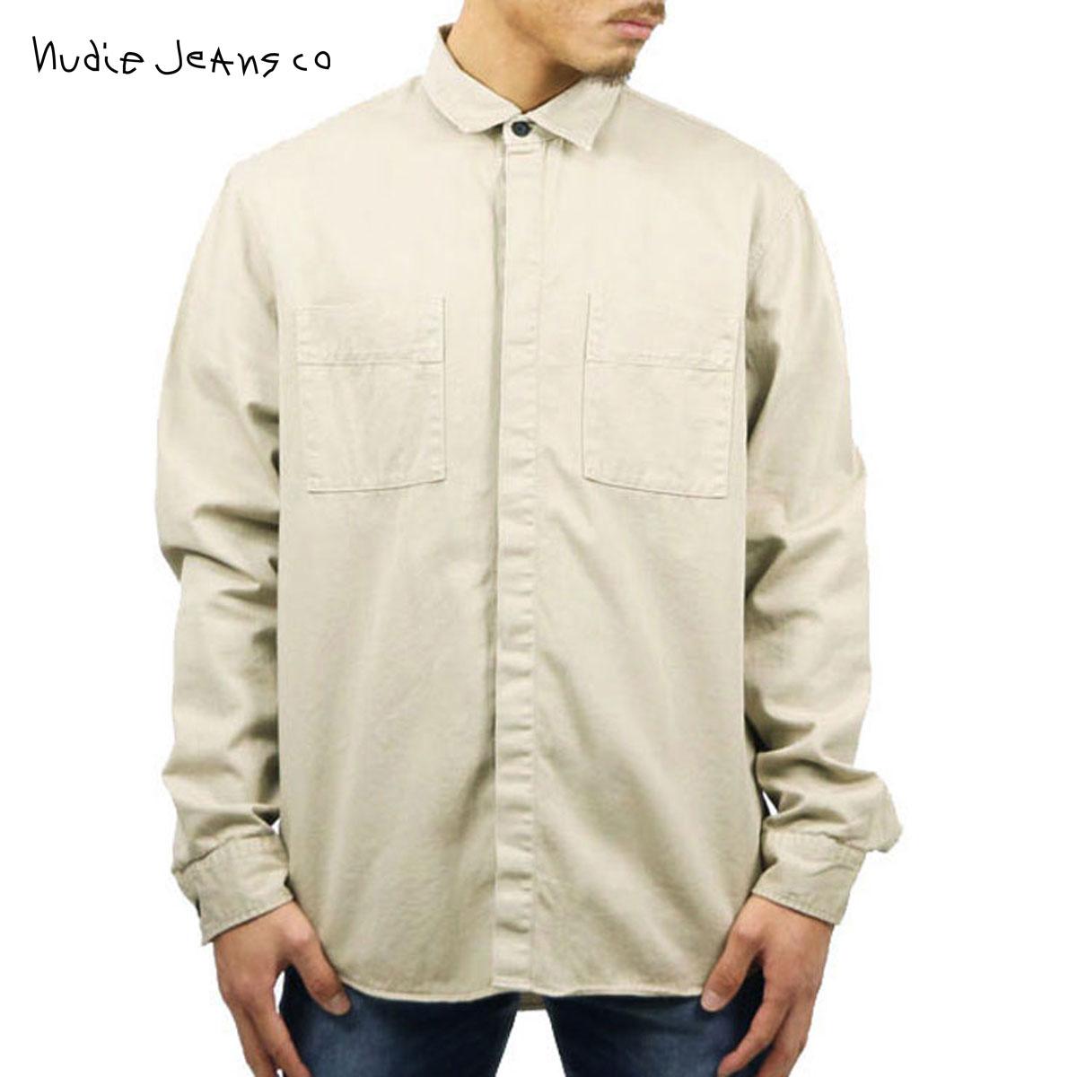 ヌーディージーンズ Nudie Jeans 正規販売店 メンズ 長袖シャツ CALLE SHIRT SAND B35 140476 D00S15