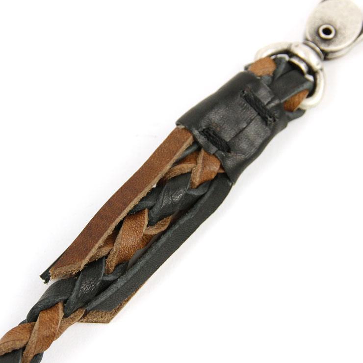 打算時分進貨預訂商品從4月到6月牛羚D牛仔褲Nudie Jeans正規的店鋪鑰匙圈KLASSON KEYSTRAP BLACK/BROWN C13 180659