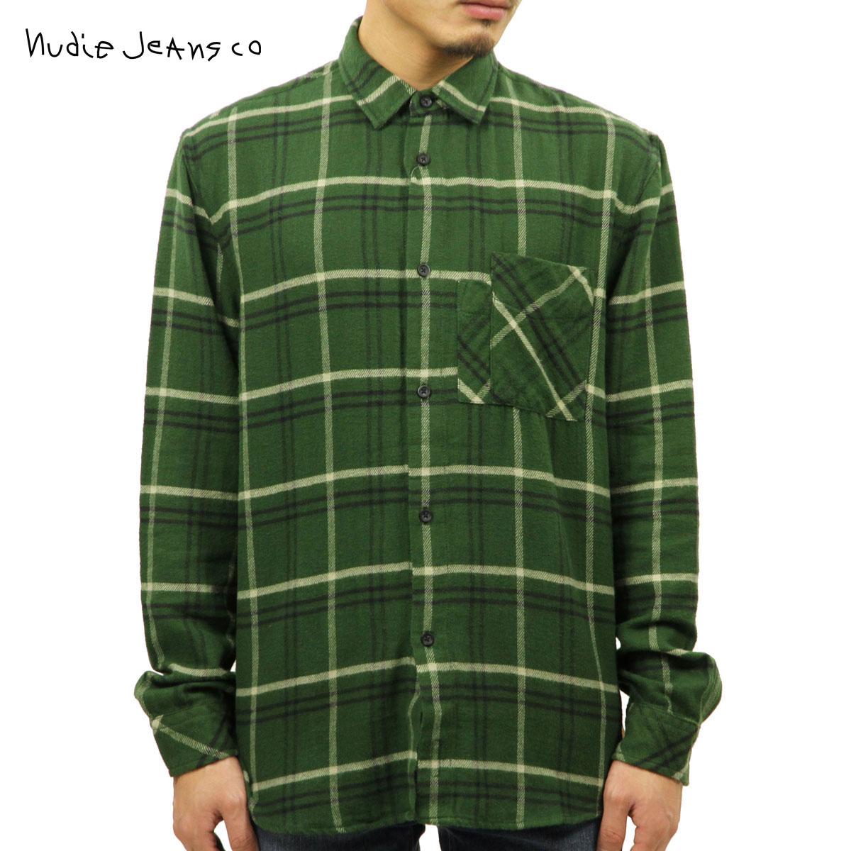 ヌーディージーンズ Nudie Jeans 正規販売店 メンズ 長袖シャツ CALLE CANADIAN CHECK SHIRT 140498 3002 GRASS