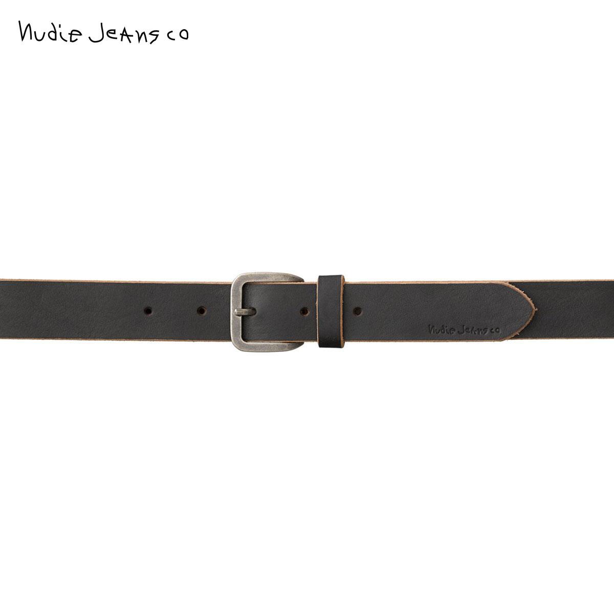 【ポイント10倍 11/04 20:00~11/11 23:59まで】 ヌーディージーンズ Nudie Jeans 正規販売店 メンズ ベルト ALBERTSSON RAW EDGE BELT 180782 7024 BLACK