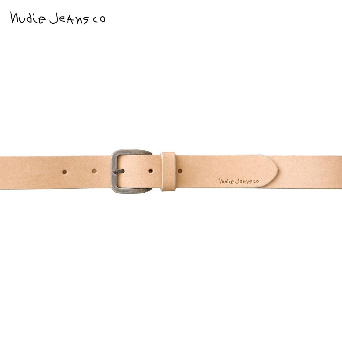 15%OFFセール 【販売期間 6/4 20:00~6/11 01:59】 ヌーディージーンズ Nudie Jeans 正規販売店 メンズ ベルト ALBERTSSON RAW EDGE BELT 180782 7024 NATURAL 父の日