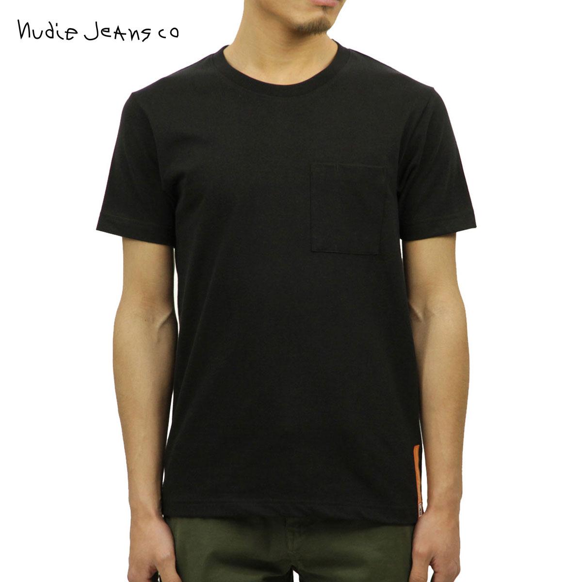 【ポイント10倍 12/19 20:00~12/26 09:59まで】 ヌーディージーンズ Nudie Jeans 正規販売店 メンズ クルーネック 半袖ポケットTシャツ KURT WORKER TEE BLACK B01 131532