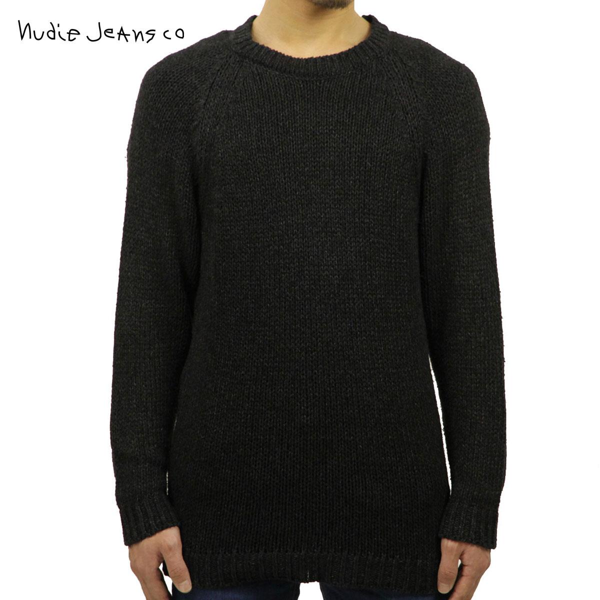 ヌーディージーンズ Nudie Jeans 正規販売店 メンズ クルーネック セーター HANS CREW NECK KNIT BLACK/INDIGO B88 150328 6005