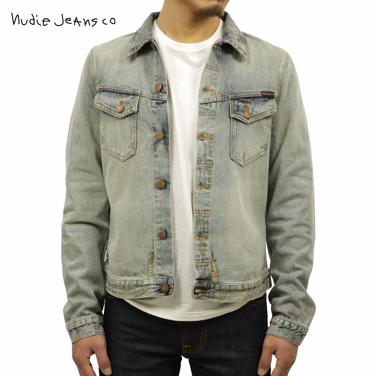 ヌーディージーンズ Nudie Jeans 正規販売店 メンズ アウター デニムジャケット KENNY SALVATORE REPLICA DENIM JACKET 160586 B26 DENIM