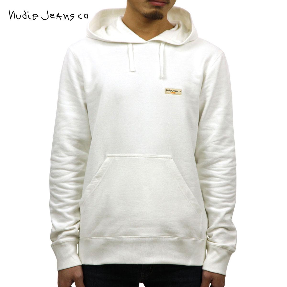 ヌーディージーンズ Nudie Jeans 正規販売店 メンズ プルオーバーパーカー EMMET LOGO HOODIE OFFWHITE 150382
