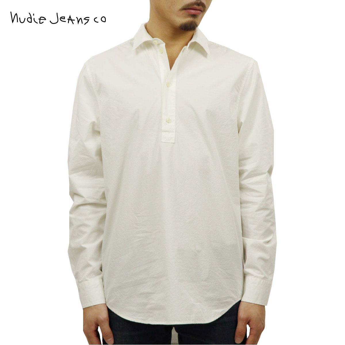 予約商品 6月頃入荷予定 ヌーディージーンズ Nudie Jeans 正規販売店 メンズ 長袖プルオーバーシャツ GABRIEL POP OVER SHIRT DUSTY WHITE W41 140599 3018