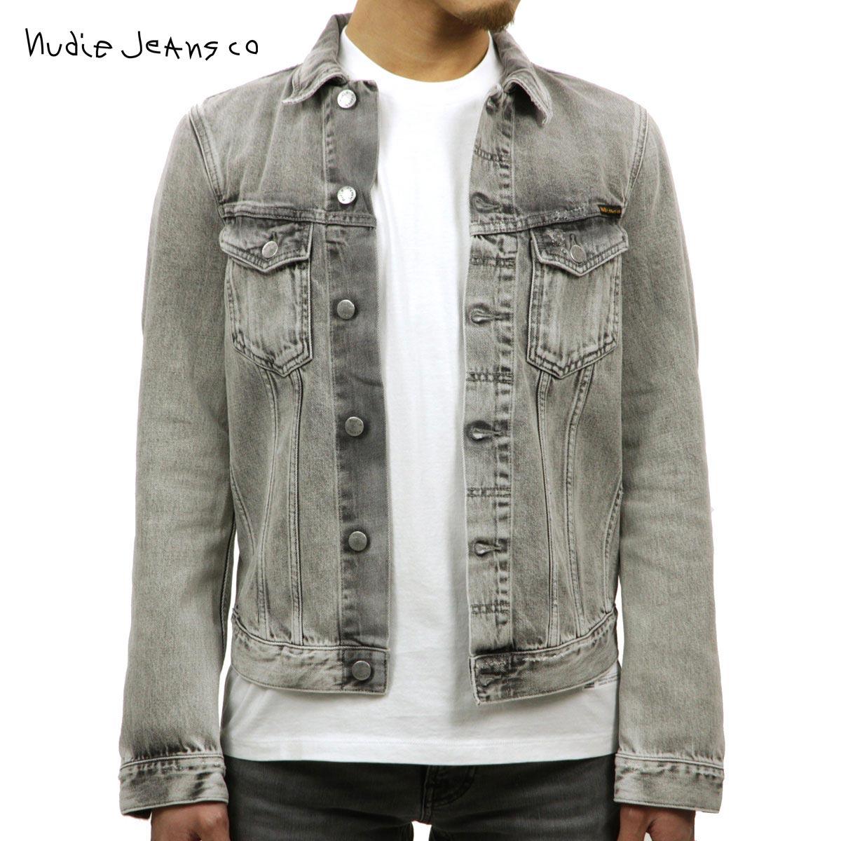 ヌーディージーンズ Nudie Jeans 正規販売店 メンズ アウター デニムジャケット BILLY LIGHT GREY TRASHED DENIM JACKET DENIM B26 160617 5012