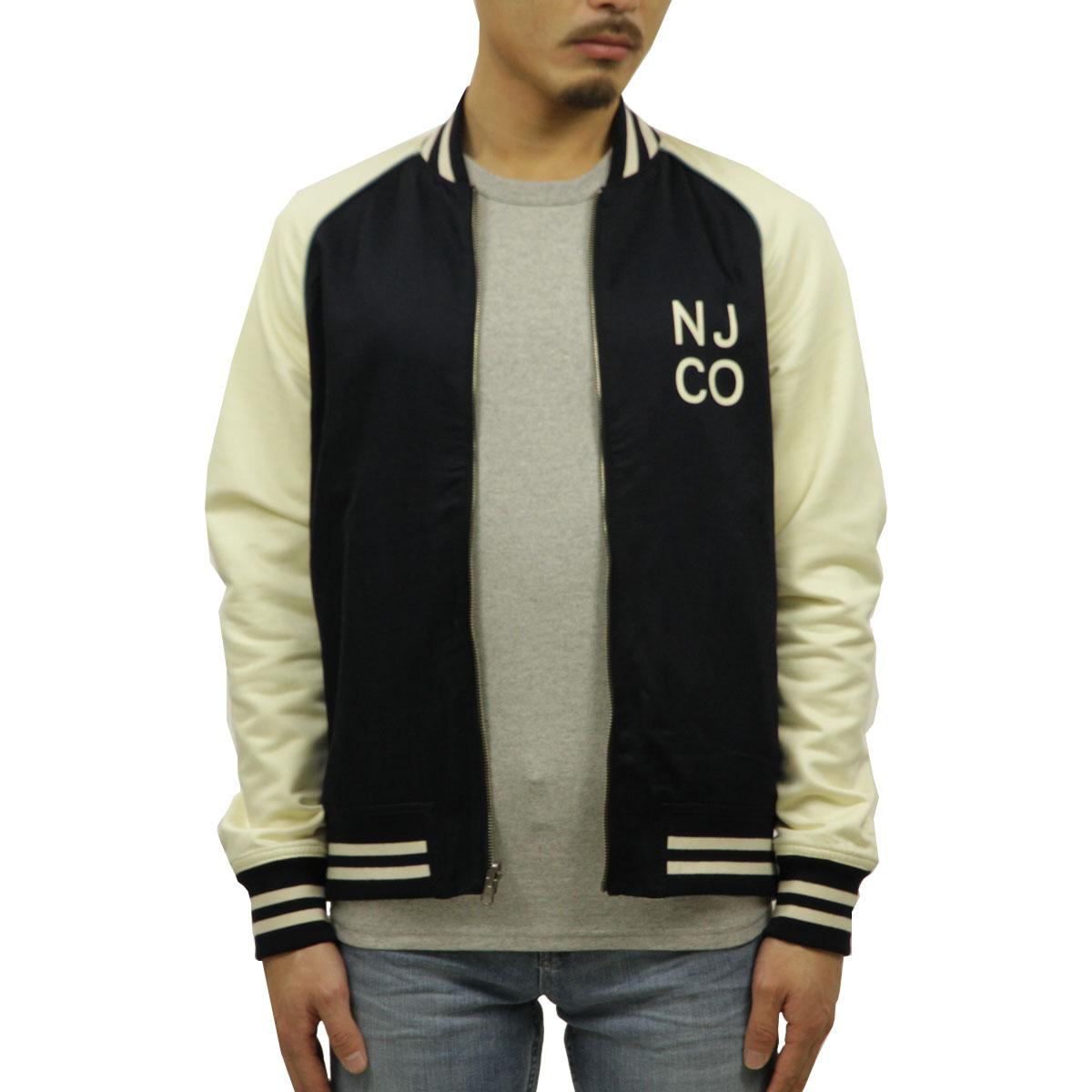 ヌーディージーンズ アウター メンズ 正規販売店 Nudie Jeans ジャケット スタジアムジャケット スタジャン MARK BASEBALL JACKET OFFWHITE/NAVY W19 160619 5020