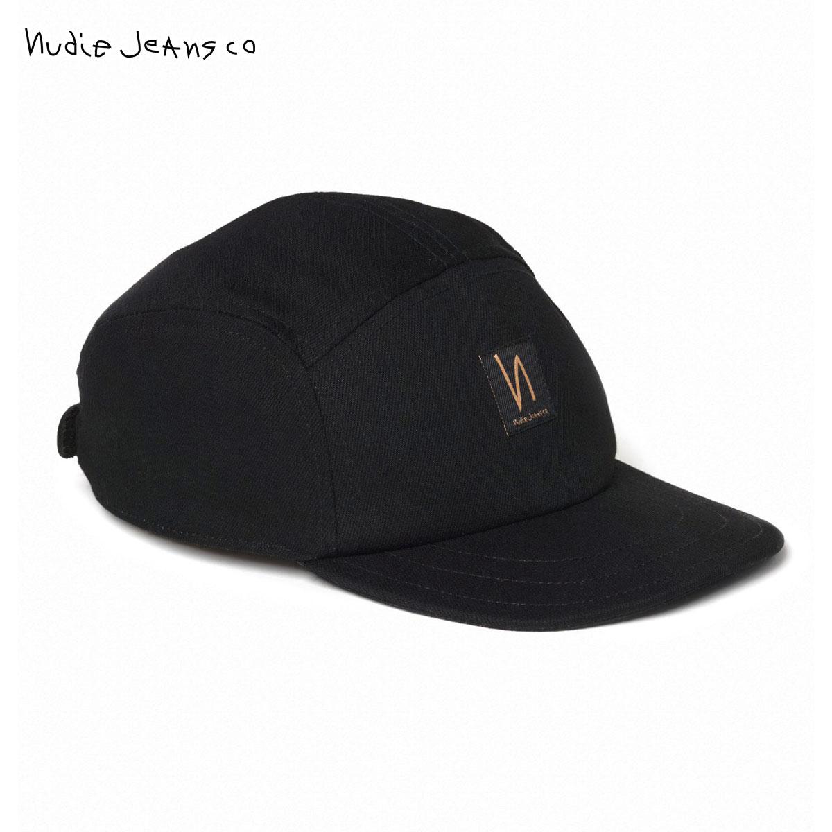 ヌーディージーンズ Nudie Jeans 正規販売店 メンズ レディース 帽子 キャップ LARSSON DRY BLACK CAP BLACK B01 180803 父の日