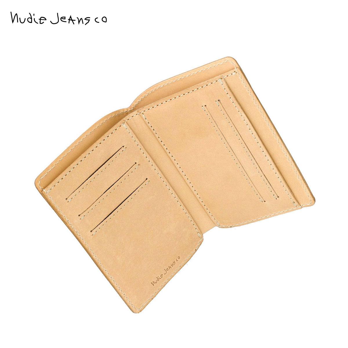 ヌーディージーンズ 財布 正規販売店 Nudie Jeans ウォレット 二つ折り 小銭入れあり MARK WALLET SADDLE LEATHER NATURAL B12 180909 父の日