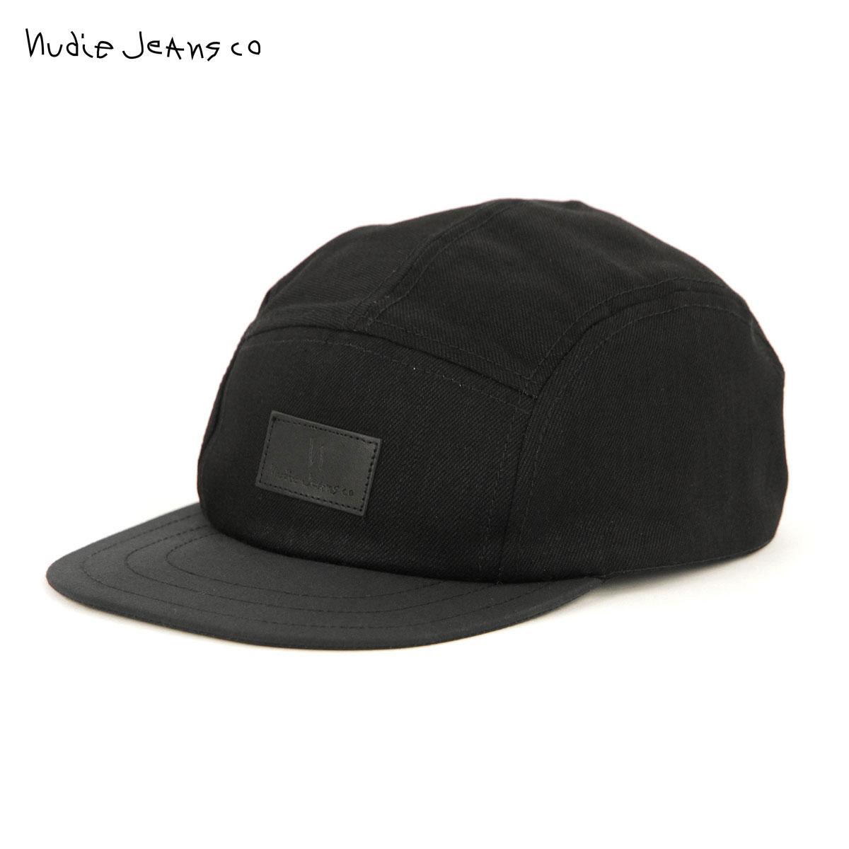 ヌーディージーンズ キャップ メンズ レディース 正規販売店 Nudie Jeans 帽子 MONTY CAP BLACK B01 180666 敬老の日 プレゼント