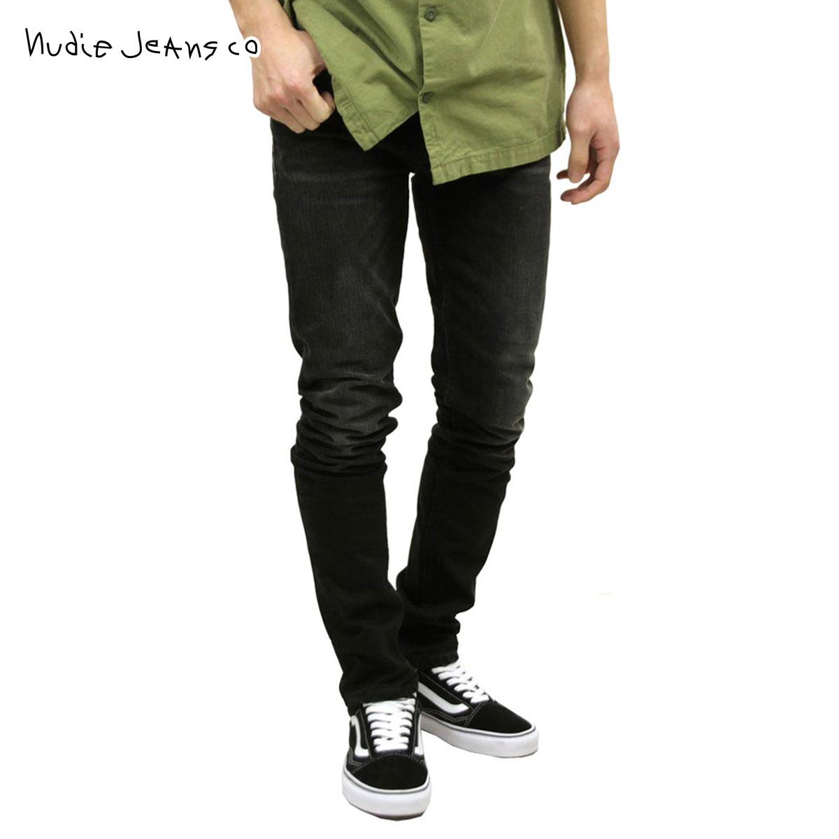 ヌーディージーンズ ジーンズ メンズ 正規販売店 Nudie Jeans グリムティム ボトムス ジーパン GRIM TIM DENIM JEANS DEEP BLACK WORN 572 1125510