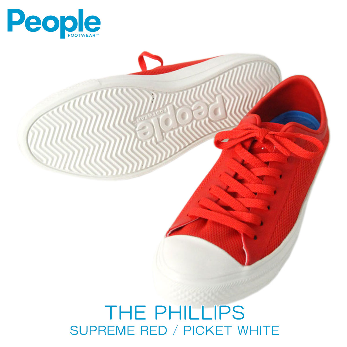 People footwear People Footwear regular store men shoes shoes THE PHILLIPS  NC01-002 SUPREME RED   PICKET WHITE D20S30 a7c4bbb5c