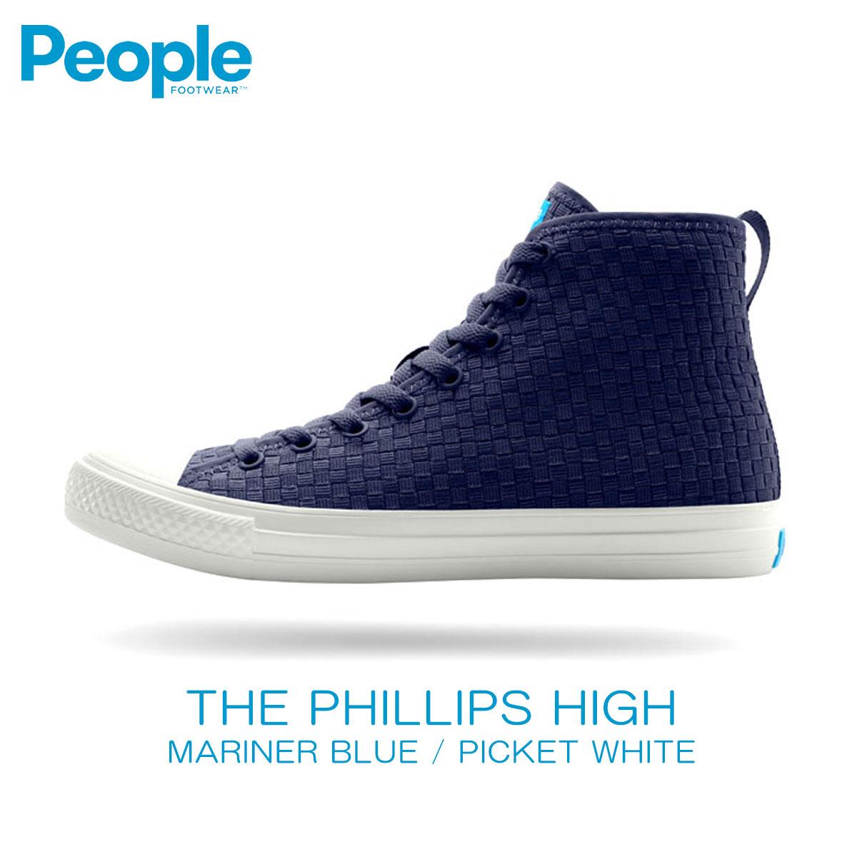 【販売期間 5/4 10:00~5/7 09:59】 ピープルフットウェア People Footwear 正規販売店 メンズ 靴 シューズ THE PHILLIPS HIGH NC01H-001 MARINER BLUE w / PICKET WHITE D15S25