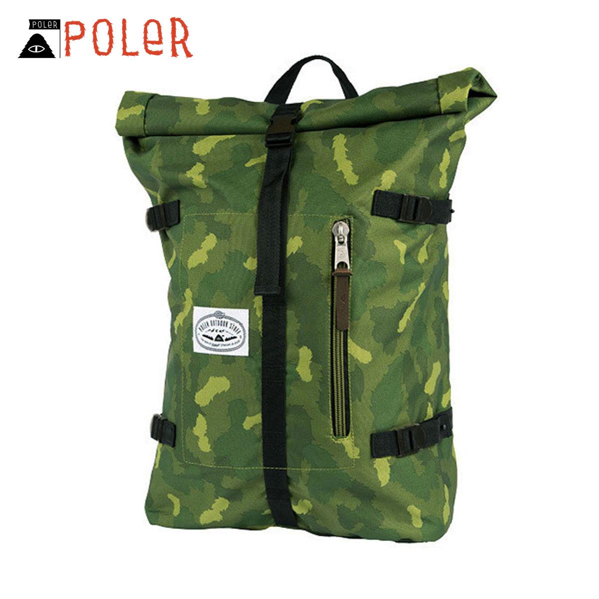 ポーラー POLER 正規販売店 バックパック リュックサック RETRO ROLLTOP 532021-GCO GREEN CAMO