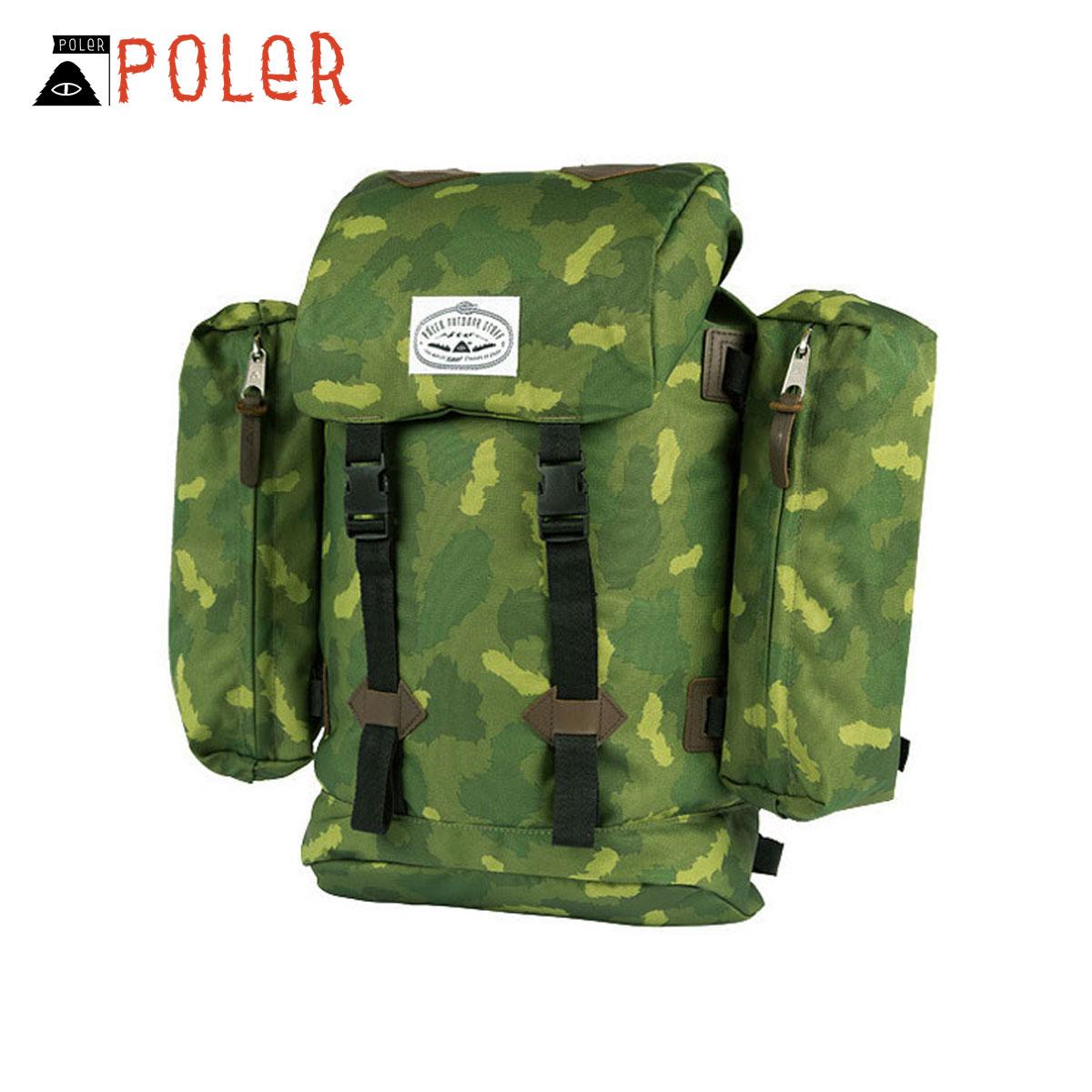 ポーラー POLER 正規販売店 バックパック リュックサック RETRO RUCKSACK 532020-GCO GREEN CAMO D15S25
