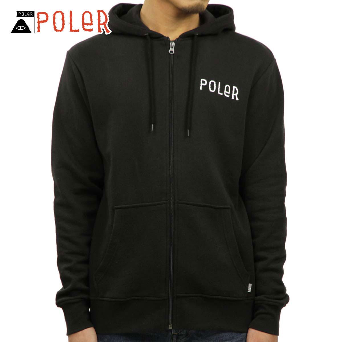 ポーラー POLER 正規販売店 メンズ パーカー PSYCHEDELIC ZIP HOODIE 631184-BLK BLACK D00S20