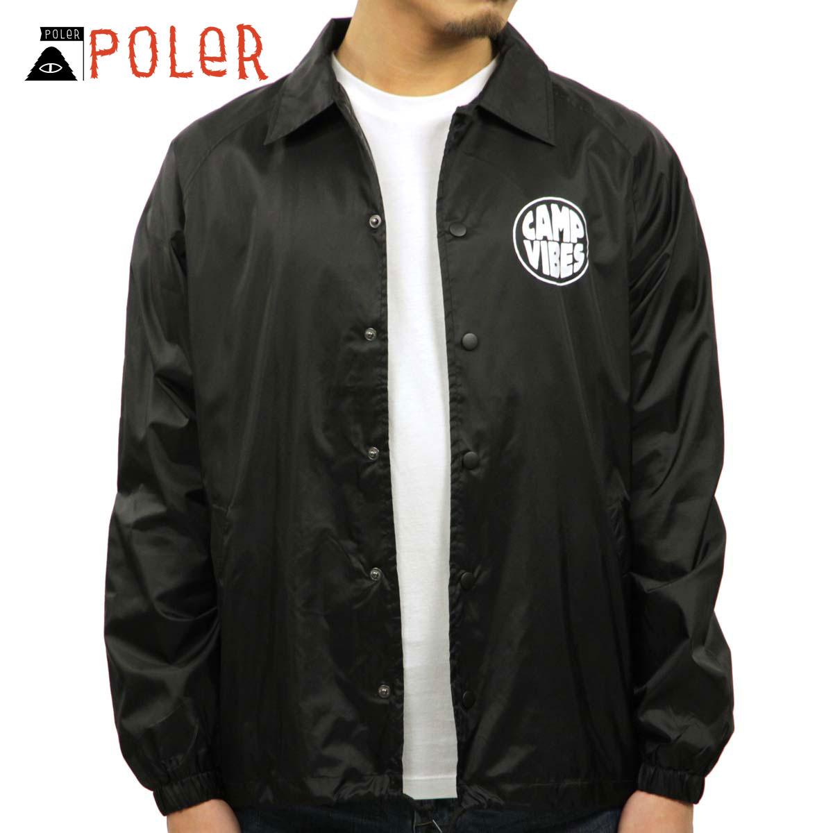 ポーラー POLER 正規販売店 メンズ アウタージャケット MEN'S COACH JACKET POP TOP BLACK D00S20