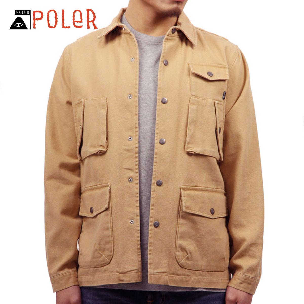 ポーラー シャツ メンズ 正規販売店 POLER アウター 長袖シャツ ジャケット KUBRICK 2 717181-TAN TAN D00S15