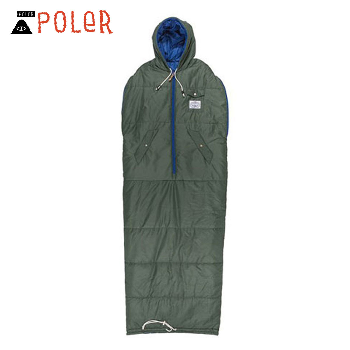 ポーラー POLER 正規販売店 寝袋 REVERSIBLE NAPSACK 634021-LFG LEAF GREEN