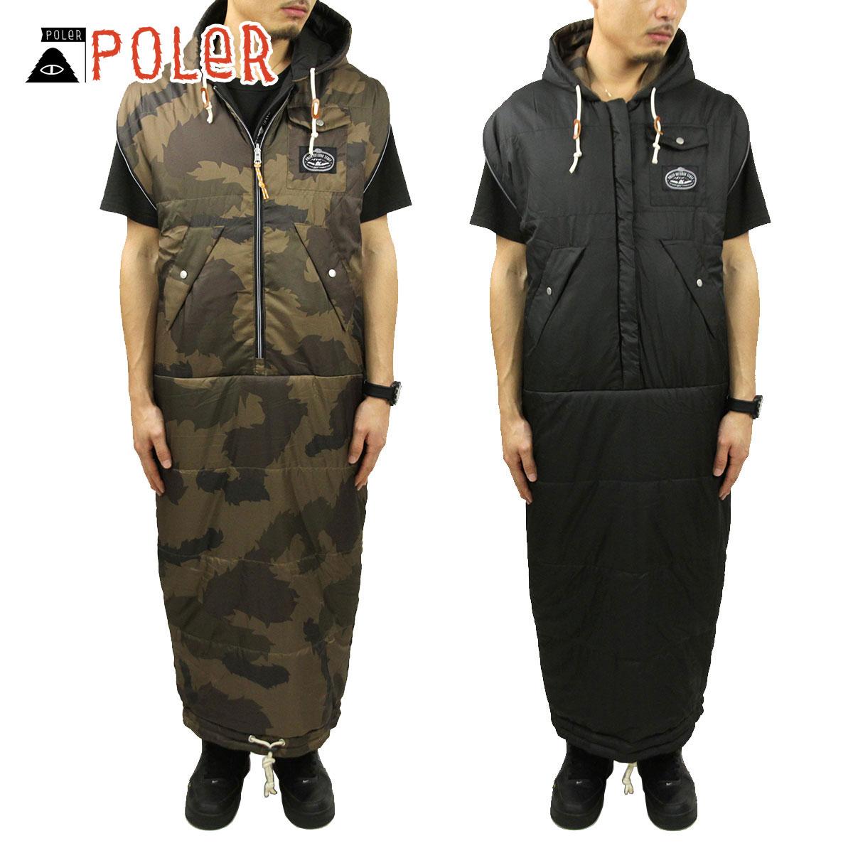 ポーラー POLER 正規販売店 リバーシブル マミー型寝袋 REVERSIBLE NAPSACK 43550002-OCO OLIVE FURRY CAMO