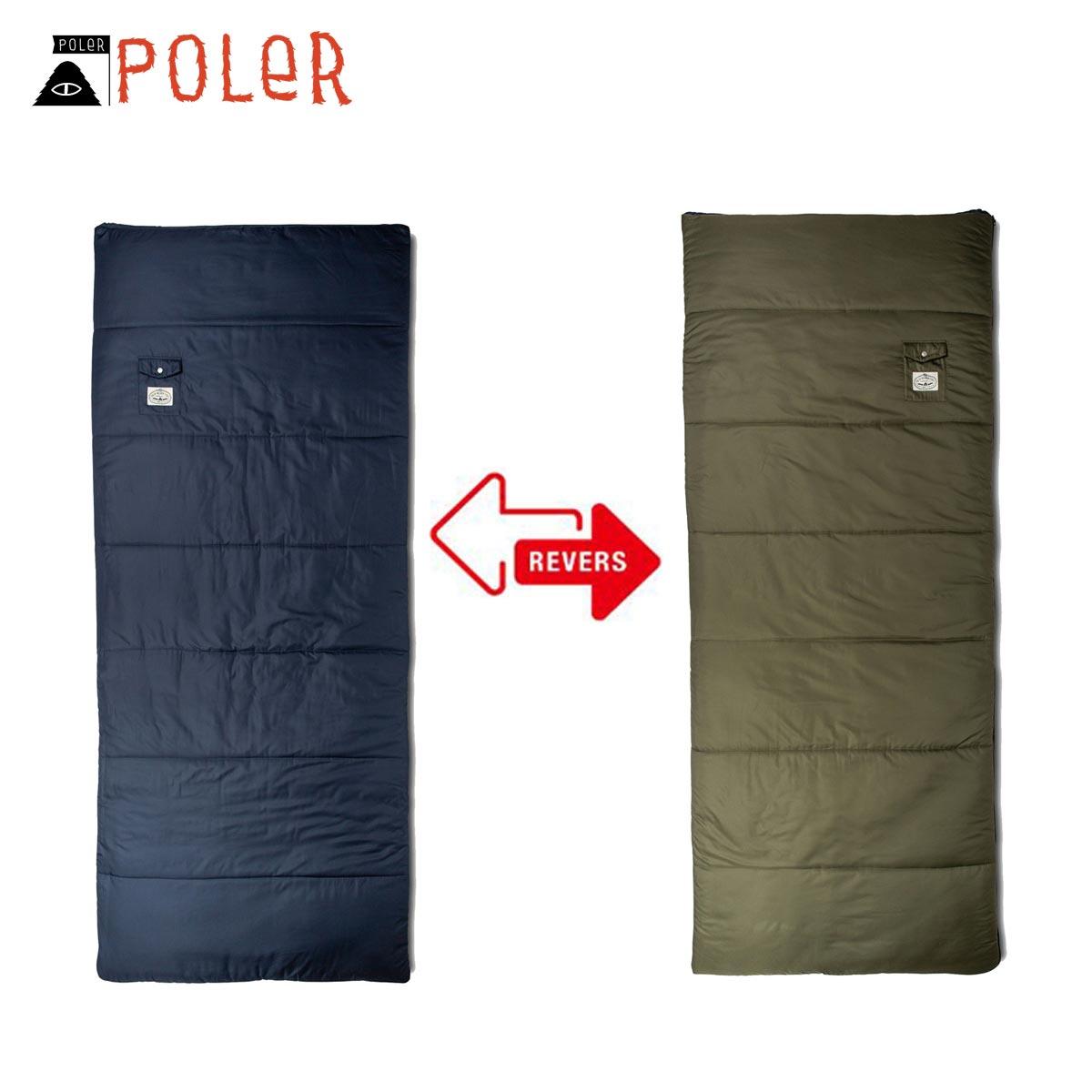 ポーラー POLER 正規販売店 リバーシブル 封筒型寝袋 THE REVERSIBLE SLEEPING SACK 43540001-NVY NAVY