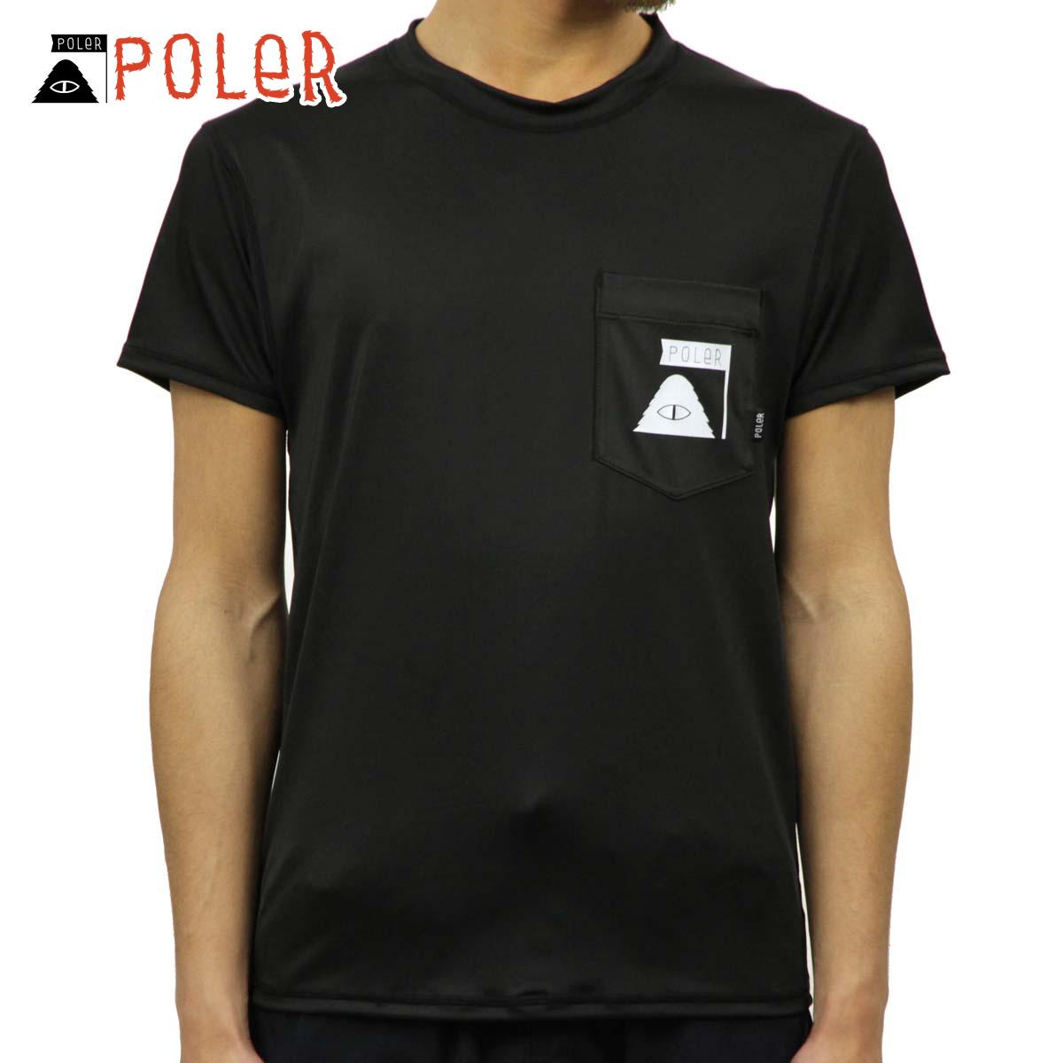【ポイント10倍 12/4 20:00~12/11 01:59まで】 ポーラー POLER 正規販売店 メンズ 半袖 ラッシュガード Tシャツ SUMMIT RUSH GUARD S/S TEE BLACK