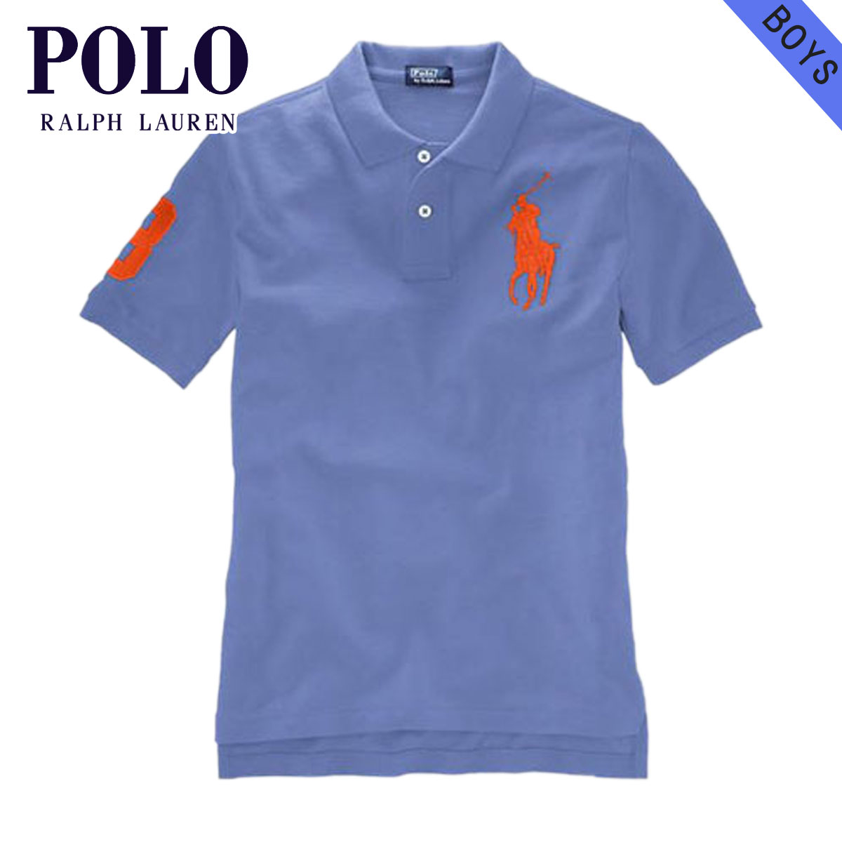 aec38c876855 Poloralflorenkids POLO RALPH LAUREN CHILDREN genuine kids clothing boys Polo  Shirt Big Pony Polo Shirt  15673586 BLUE 10P22Jul14
