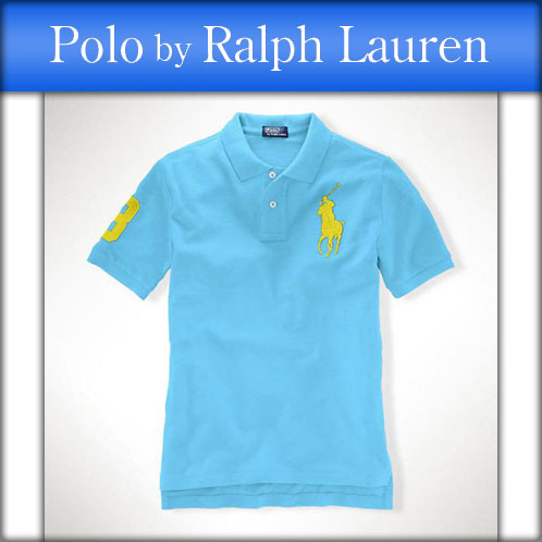 Poloralflorenkids POLO RALPH LAUREN CHILDREN genuine kids clothing boys Polo  Shirt Big Pony Mesh Polo #17535486 LIGHT BLUE 10P22Jul14
