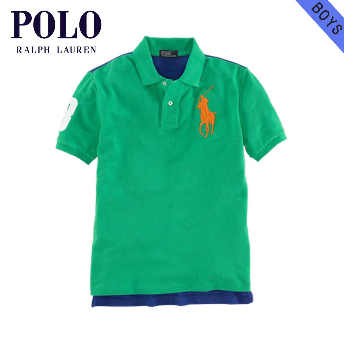 ba6441a0678a Polo Ralph Lauren kids POLO RALPH LAUREN CHILDREN regular article children s  clothes Boys polo shirt Big Pony Mesh Polo  18121236 GREEN D20S30