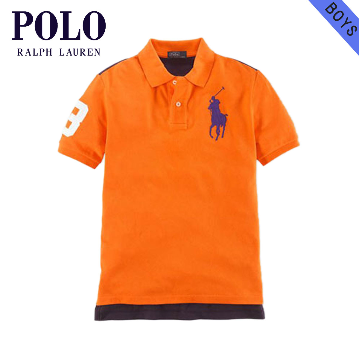 491d587a9d3e Poloralflorenkids POLO RALPH LAUREN CHILDREN genuine kids clothing boys Polo  Shirt Big Pony Mesh Polo  18121236 ORANGE 10P22Jul14