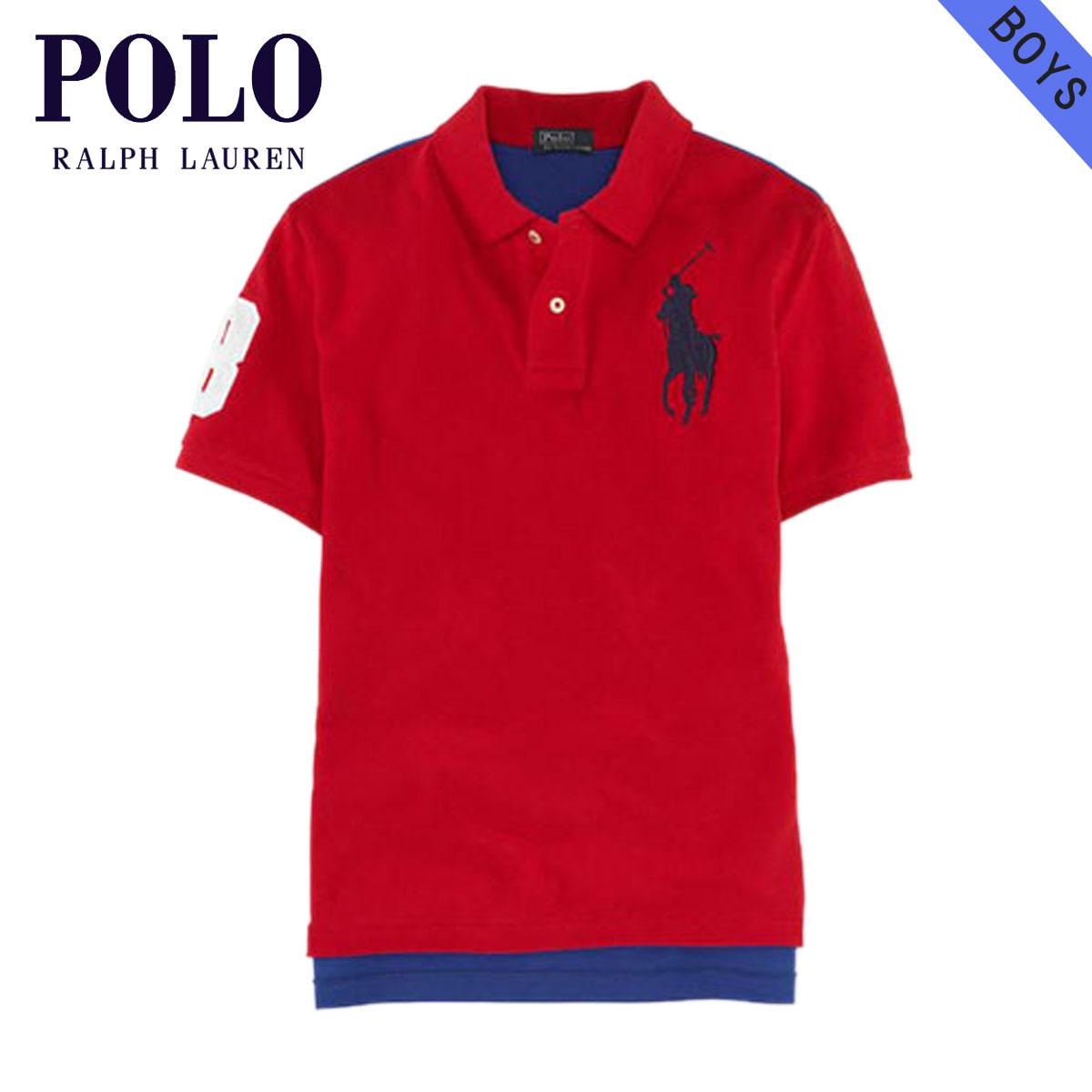b5d2eb0f1b7ee Poloralflorenkids POLO RALPH LAUREN CHILDREN genuine kids clothing boys  Polo Shirt Big Pony Mesh Polo  18121236 RED 10P22Jul14