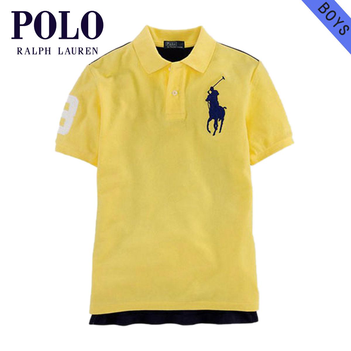ebe67940d65e9 Poloralflorenkids POLO RALPH LAUREN CHILDREN genuine kids clothing boys Polo  Shirt Big Pony Mesh Polo  18121236 YELLOW 10P22Jul14