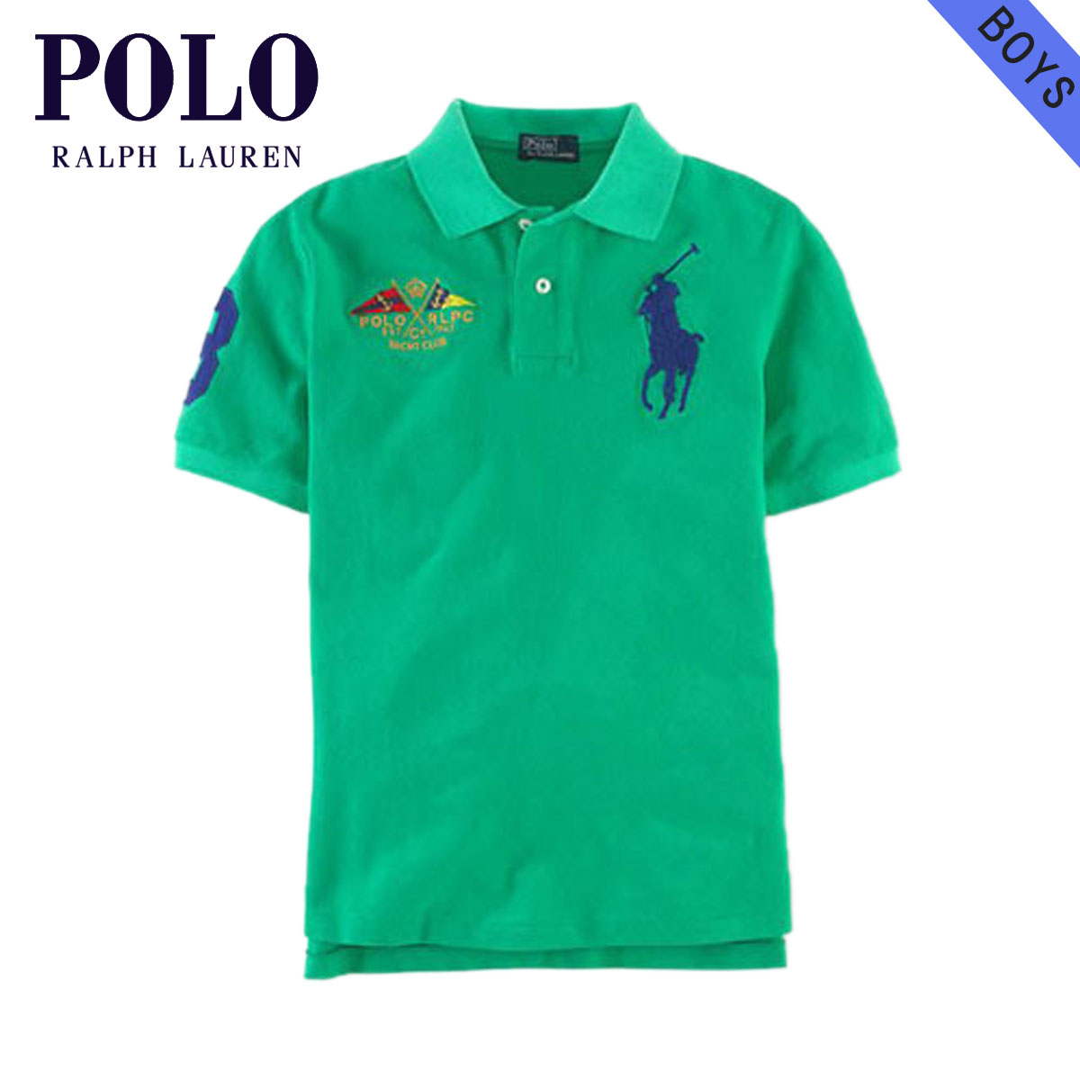 finest selection e3d33 f470f Polo Ralph Lauren kids polo shirt Boys children's clothes regular article  POLO RALPH LAUREN CHILDREN short sleeves polo shirt Big Pony Flag Polo ...