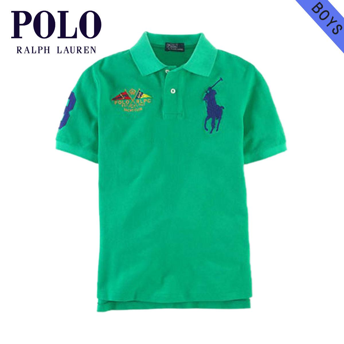 27ddc8ebed50c Poloralflorenkids POLO RALPH LAUREN CHILDREN genuine kids clothing boys  Polo Shirt Big Pony Flag Polo  18121136 GREEN 10P13Dec14