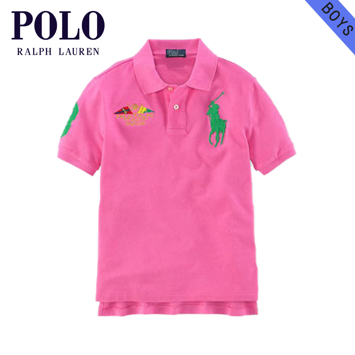 63de96a7dfda Poloralflorenkids POLO RALPH LAUREN CHILDREN genuine kids clothing boys Polo  Shirt Big Pony Flag Polo  18121136 PINK 10P21Feb15