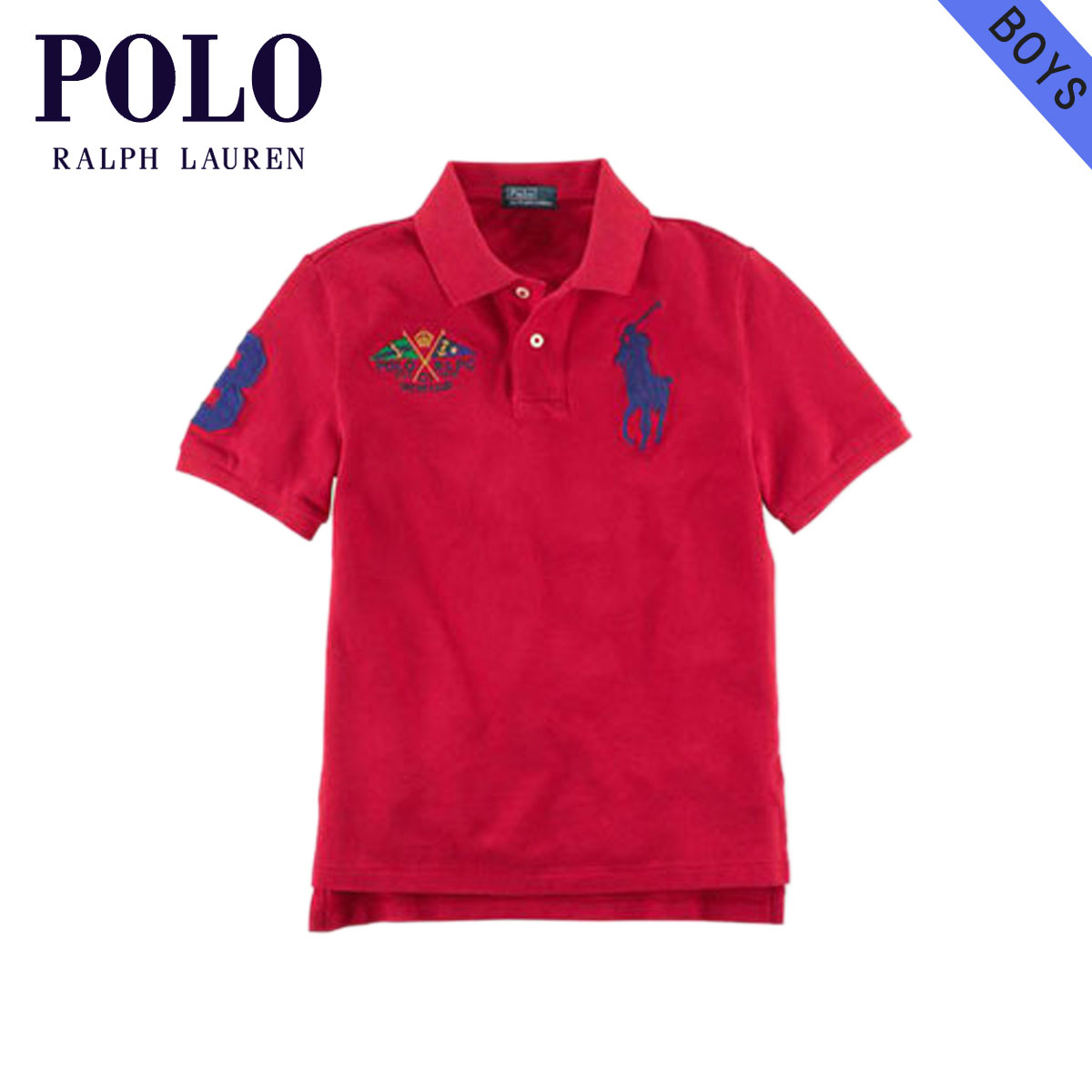 6a574ea0f3aa Poloralflorenkids POLO RALPH LAUREN CHILDREN genuine kids clothing boys Polo  Shirt Big Pony Flag Polo  18121136 RED 10P22Jul14