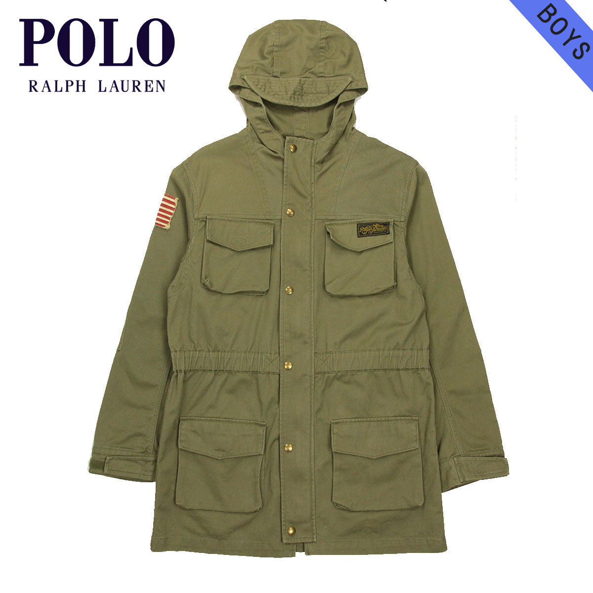 25%OFFセール 【販売期間 9/4 20:00~9/11 1:59】 ポロ ラルフローレン キッズ POLO RALPH LAUREN CHILDREN 正規品 子供服 ボーイズ パーカージャケット Baxter State Parka #18788186 OLIVE D15S25