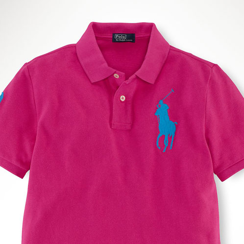 POLO RALPH LAUREN CHILDREN ポロラルフローレンキッズ genuine kids clothing boys polo  shirt Classic-Fit Big Pony Polo #19673836 HOT PINK