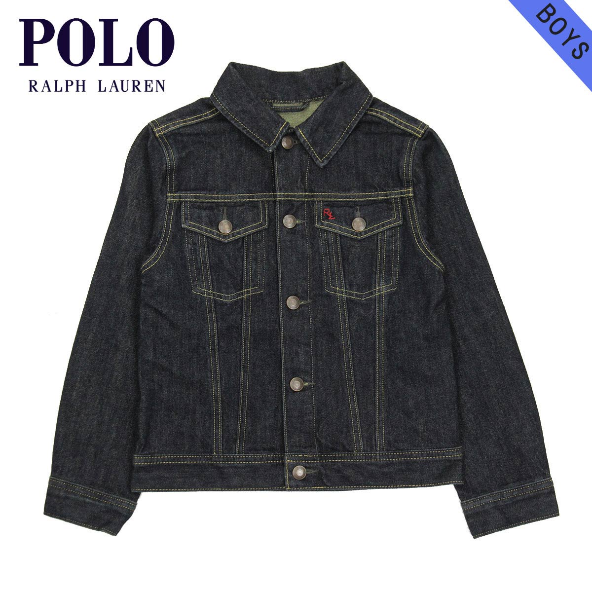580853069b1a2 Poloralflorenkids POLO RALPH LAUREN CHILDREN genuine kids clothing boys  jacket Classic Trucker Jean Jacket  22358446 NAVY 10P22Jul14
