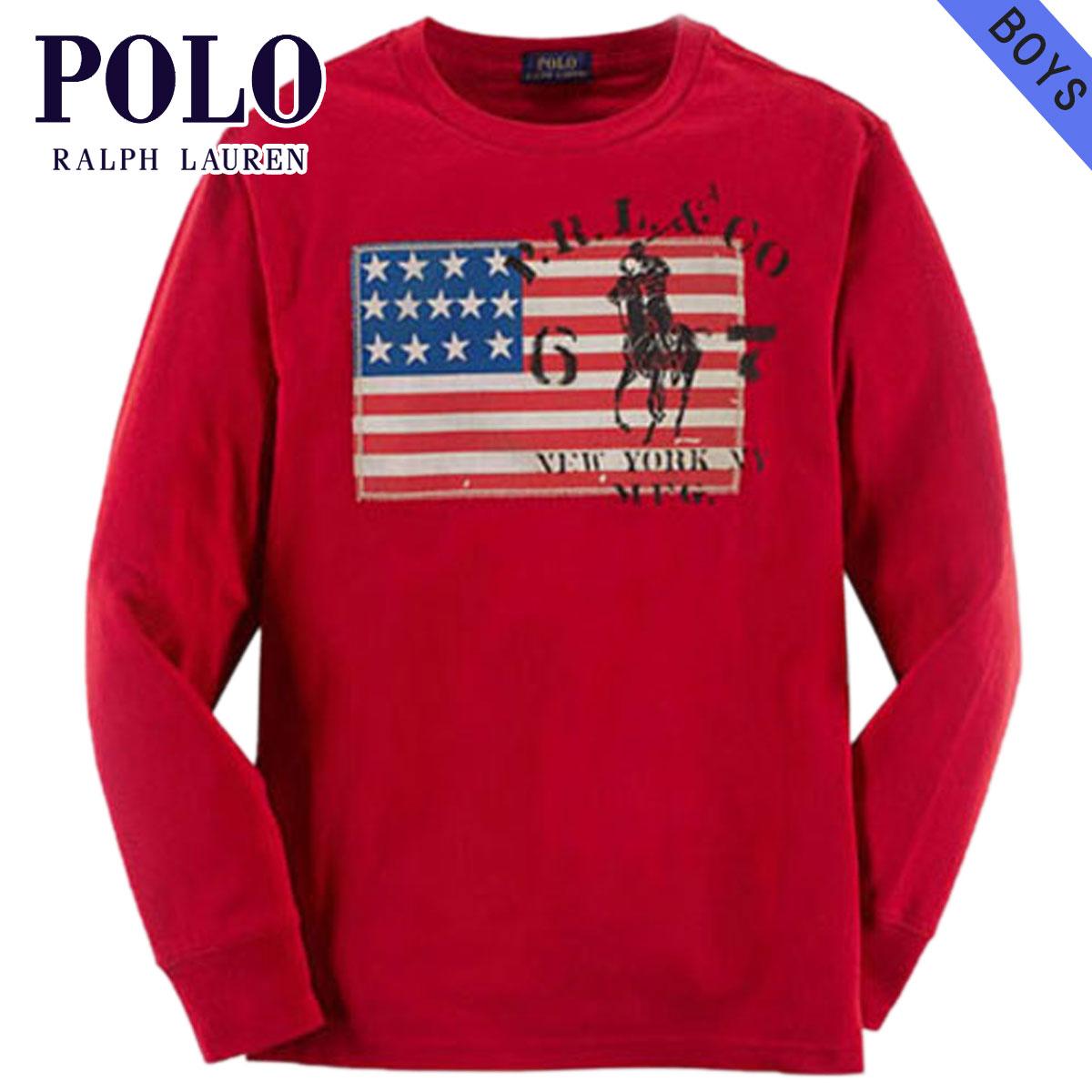 a5796768b502 Poloralflorenkids POLO RALPH LAUREN CHILDREN genuine kids clothes boys long  sleeve T shirt Flag Cotton Tee  37717066 10P11Apr15