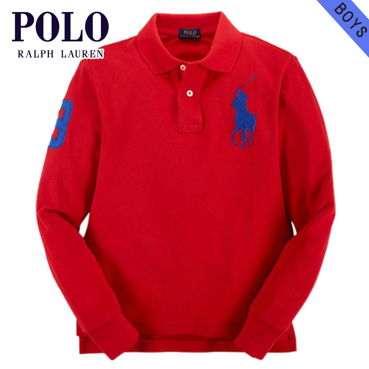 ポロ ラルフローレン キッズ POLO RALPH LAUREN CHILDREN 正規品 子供服 ボーイズ 長袖ポロシャツ CUSTOM-FIT BIG PONY SHIRT 37716606