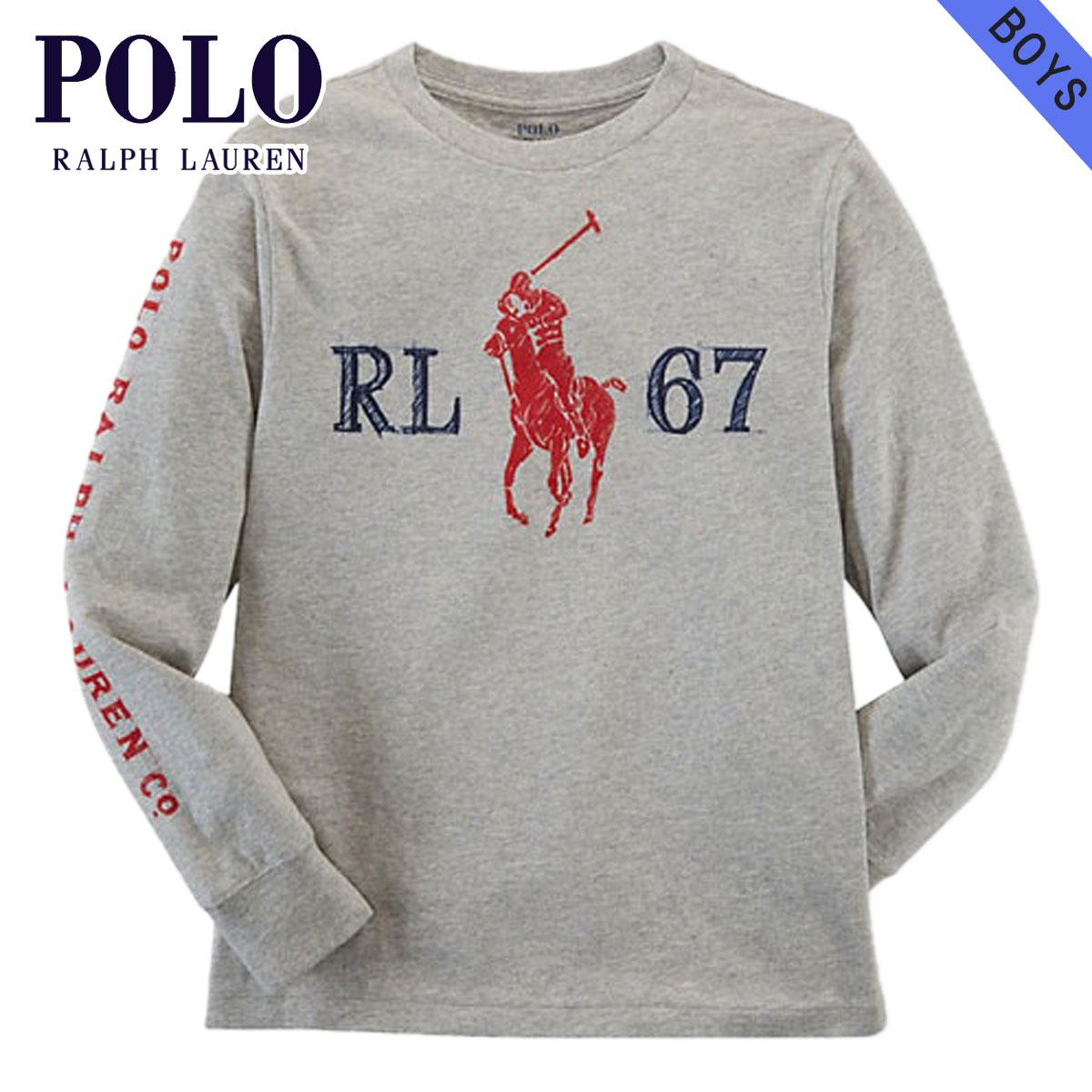 d722166cbdb0 Rakuten Ichiba shop MIXON: Polo Ralph Lauren kids POLO RALPH LAUREN CHILDREN  regular article children's clothes Boys long sleeves T-shirt COTTON GRAPHIC  TEE ...
