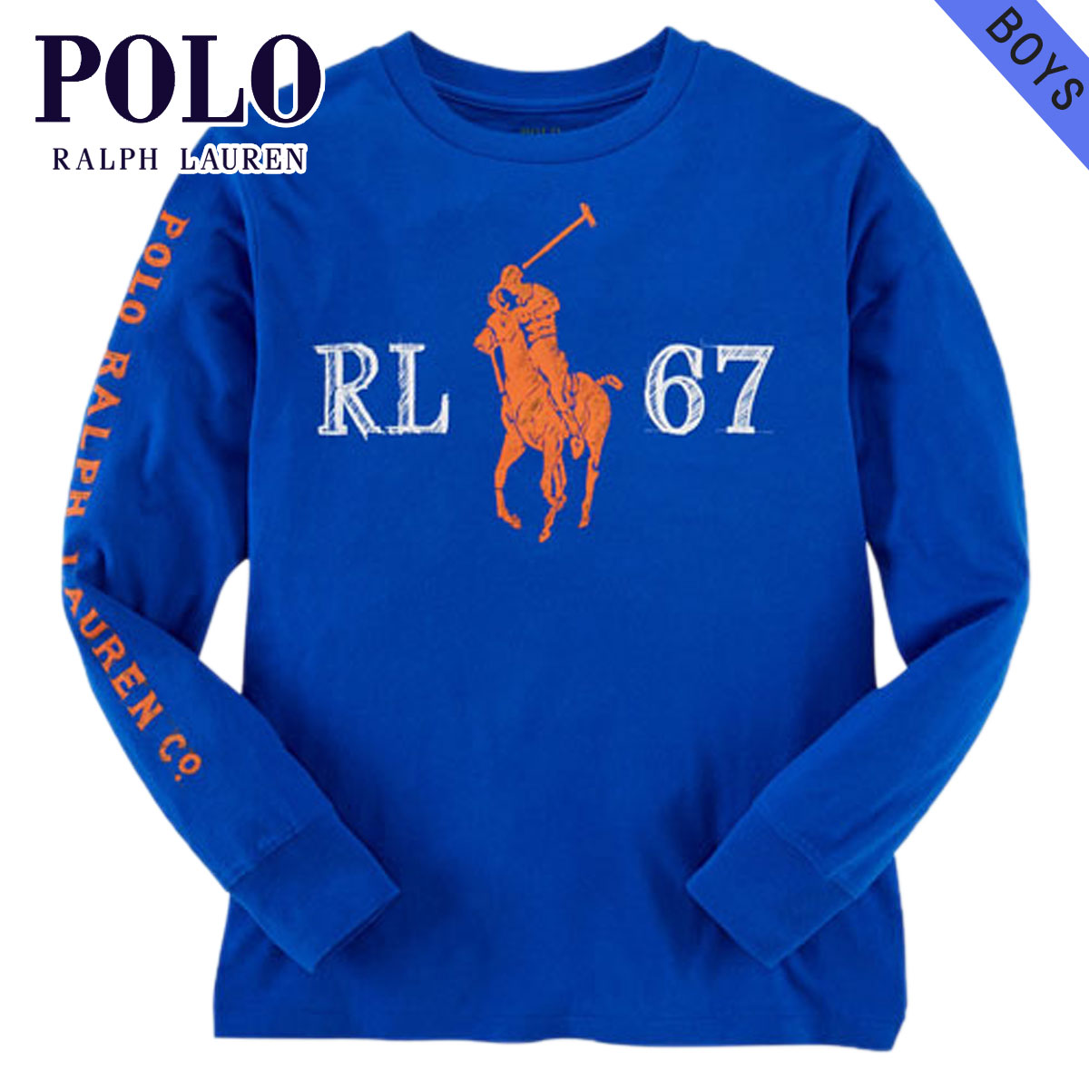 2133dbde8 Rakuten Ichiba shop MIXON: Polo Ralph Lauren kids POLO RALPH LAUREN  CHILDREN regular article children's clothes Boys long sleeves T-shirt  COTTON GRAPHIC TEE ...