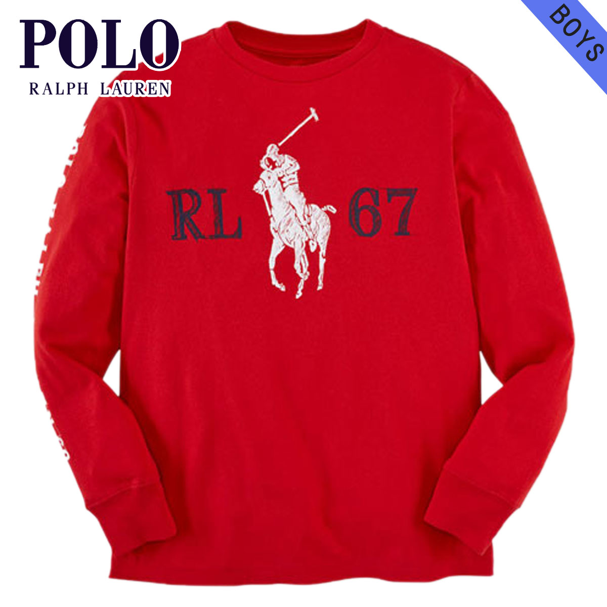 ac41bbc54 Rakuten Ichiba shop MIXON: Polo Ralph Lauren kids POLO RALPH LAUREN CHILDREN  regular article children's clothes Boys long sleeves T-shirt COTTON GR ...